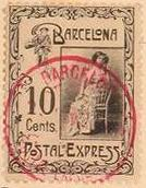 Barcelona-Postal-Express-stamp-Briefmarke-Stamp-Sello-Timbro–francobollo-Timbre